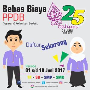 Promo 25 Tahun Yayasan Walisongo Bekasi (GRATIS)